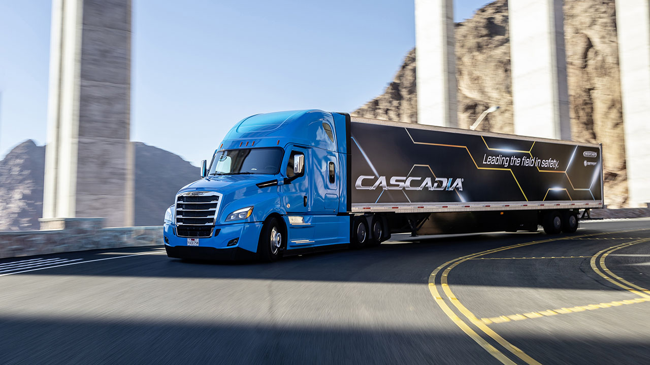 Automated Freightliner Cascadia
