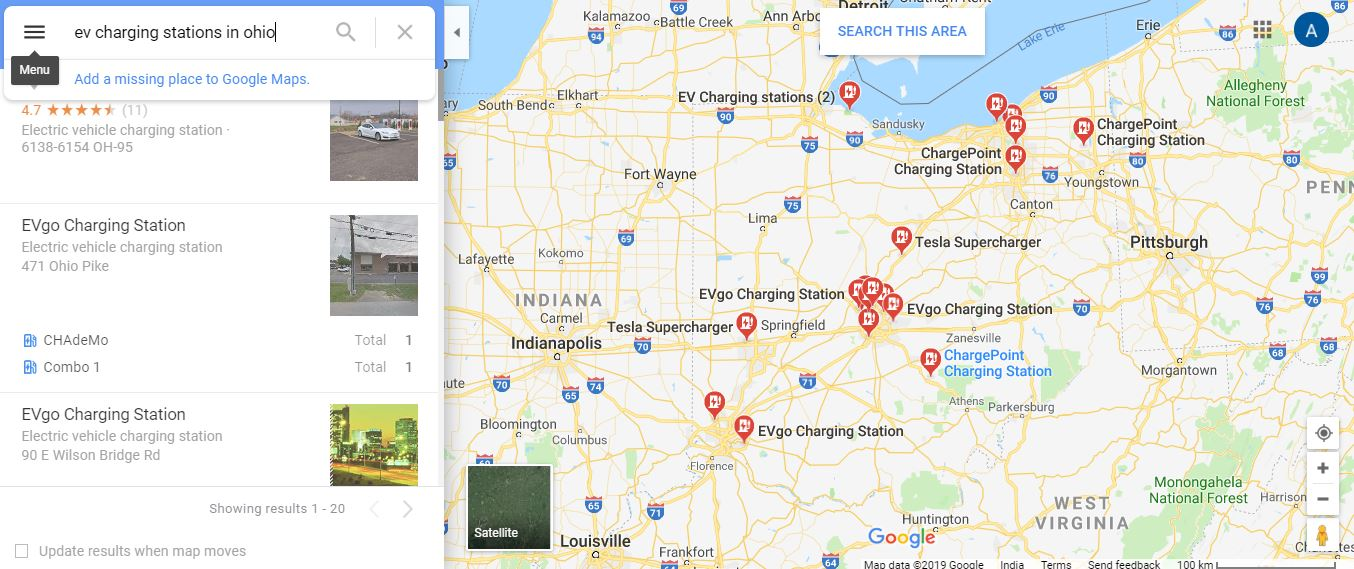 Ev Charging Stations Map >> Google Maps Will Now Show Ev Charger Information Charging
